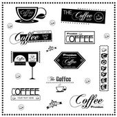 Set of vintage retro coffee labels — Vettoriale Stock