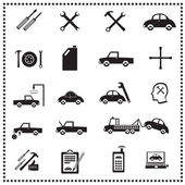 Auto Repairs Icons set, Vector illustration — Stock Vector