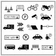Set of car parking icons, Vector illustration - Stock Vector