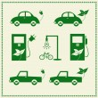 Set of eco cars icons, Vector illustration — Stock Vector