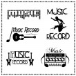 Music Record Labels, Vector illustration — Stock Vector