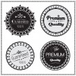 Premium Quality and Guarantee retro labels, Vector illustration — Stock Vector