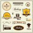 Stock Vector: Set of bakery logo badges and labels