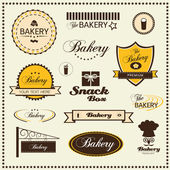 Set of bakery logo badges and labels — Stock Vector