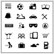 Stock Vector: Icons of news website