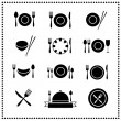 Food and Restaurant icons set — Stock Vector