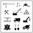 Set of construction icons, Vector illustration — Stock Vector