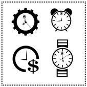 Time is Money concept — Vector de stock