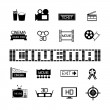 Set of Cinema and movies icons — Stock Vector