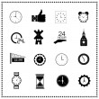 Set of clock icons — Imagen vectorial