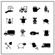 Agriculture and farming icons set, Vector illustration — Stock Vector