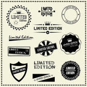 Set of Limited Edition vintage retro style labels — Stock Vector