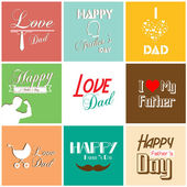 Happy father's day card with font, typography — Vettoriale Stock