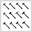 Set of hammer icons — Stock Vector
