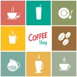 Coffee shop background designs — Stock Vector