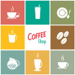 Stock Vector: Coffee shop background designs