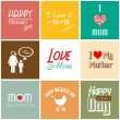 Stock Vector: Happy mother's day card with font, typography