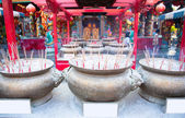 Incense in chinese temple — Stock Photo