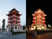 Observatory tower chinese style at Dragon Descendants Museum — Stock Photo
