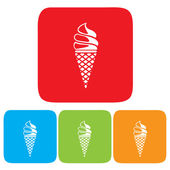 Ice Cream Icon — Stock Vector