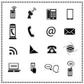 Set of Communication icons — Stock Vector
