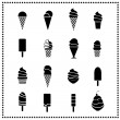 Ice cream icons — Vector de stock #26005173