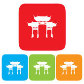 Ícone arco chinês — Vetor de Stock