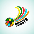 Soccer Ball colorful — Stock Vector