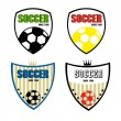 Set of soccer badge — Stock Vector