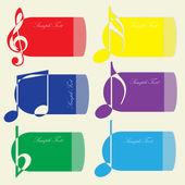 Musik-kort för din text. vektor illustration. — Stockvektor