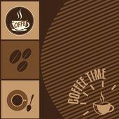 Fundo de tempo café — Vetor de Stock