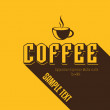Retro Vintage Coffee Background with Typography — ベクター素材ストック