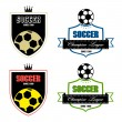 Stock Vector: Soccer badge, Soccer labels, Soccer emblems