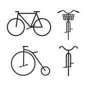 Cykel, vektor illustration — Stockvektor
