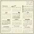 Calendar 2014, Vector illustration — Stock Vector