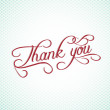 Thank you hand lettering — Stock Vector