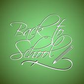 Powrót do szkoły strony napis — Wektor stockowy