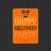 Happy halloween party gratulationskort, vektor illustration — Stockvektor