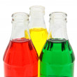 Colorful glass bottles — Stock Photo