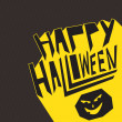 Happy Halloween party greeting card — Vector de stock