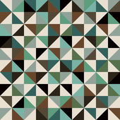 Triangle retro seamless background — ストックベクタ