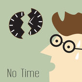 No Time Concept — Stock Vector