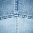 Blue denim jeans texture background — Stock Photo