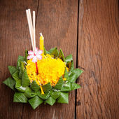 Loy Kratong Festival celebrated in Thailand — Stock Photo
