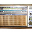 Old radio, Antique brown radio on a white background — Foto de Stock