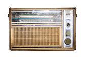 Old radio, Antique brown radio on a white background — Stock Photo