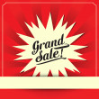 Grand sale, Vector illustration — Stock Vector