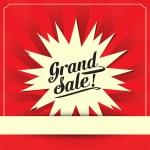 Grand sale, Vector illustration — Stock Vector #36580867