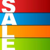 Prodej značek, vektorové ilustrace — Stock vektor