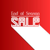 End of Season Sale, Vector illustration — Stock Vector